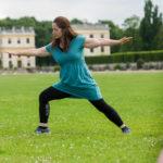 """""""Breath & Walk Yogawalking"""", Yvonne Mackenroth, zertifizierte Kundalini-Yogalehrerin, Gesundheitstag 2017 bei der Unternehmensgruppe Nassauische Heimstätte / Wohnstadt in Kassel, Foto: Karsten Socher Fotografie / www.KS-FOTOGRAFIE.net - Fotograf in Kassel"""